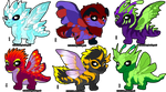 Adoptable Baby Chibi Dragons-OPEN by StephsAdopts