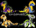 Adopt Chibi Sauropod Dinosaurs CLOSED by StephsAdopts