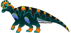 Iowasi Dinosaur Lambeosaurus by StephsAdopts