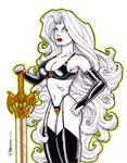 Lady Death Marker Sketch