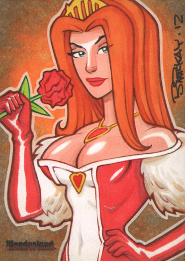 Wonderland Queen of Hearts AE Sketch Card by BillMcKay
