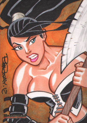Wonderland Calie AE Sketch Card by BillMcKay