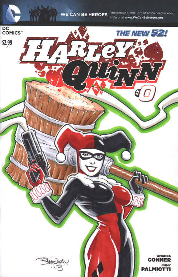Harley Quinn Sketch Cover by BillMcKay