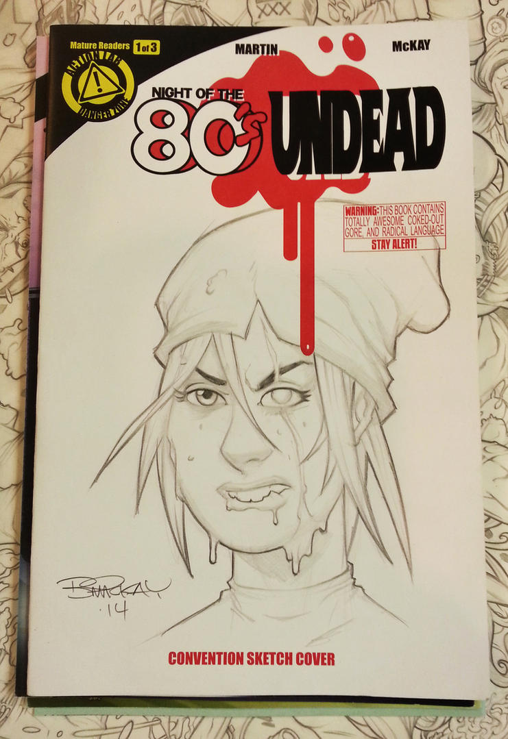 Night of the 80's Undead Sketch Cover 3 of 15 by BillMcKay