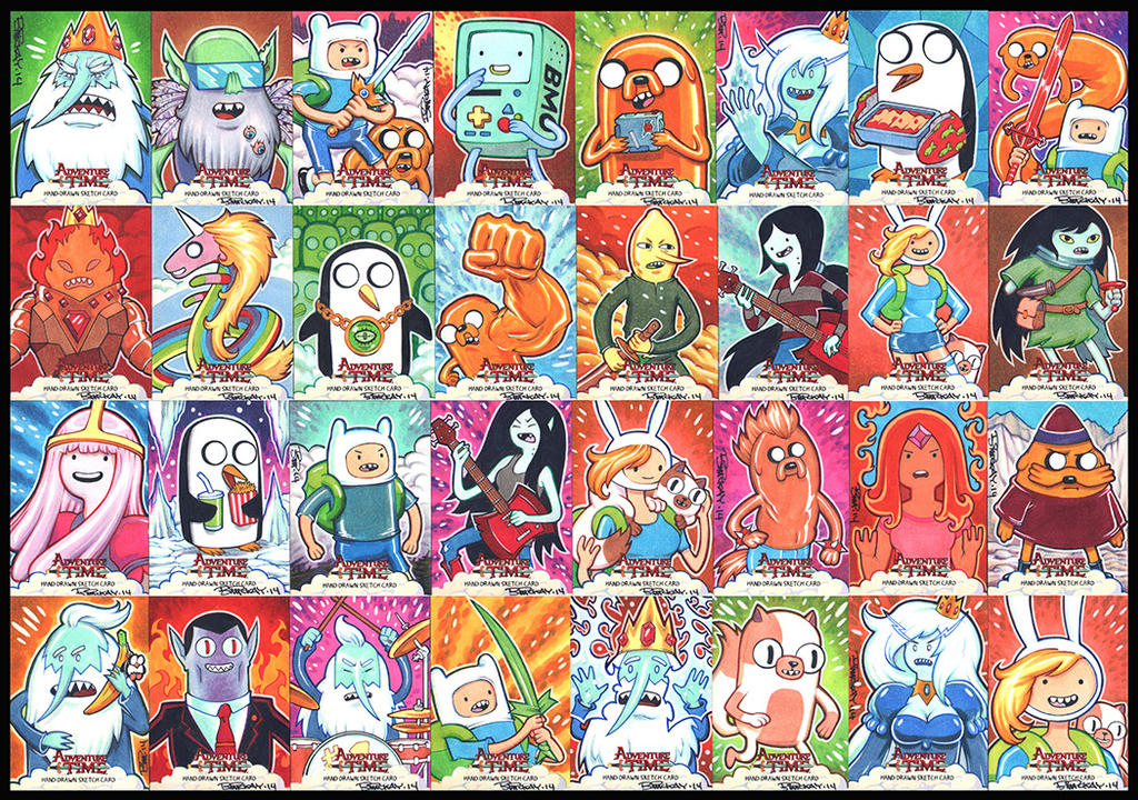 Adventure Time Sketch Cards by BillMcKay