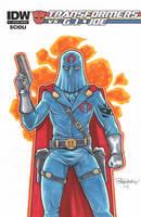 Cobra Commander Sketch Cover by BillMcKay