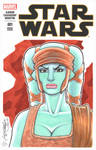 Aayla Secura Bust Sketch Cover