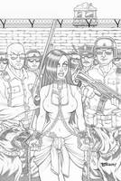 Zombie Tramp 28 Cover Pencils by BillMcKay