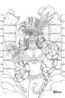 Zombie Tramp NYE Wizard Exclusive Cover Pencils by BillMcKay