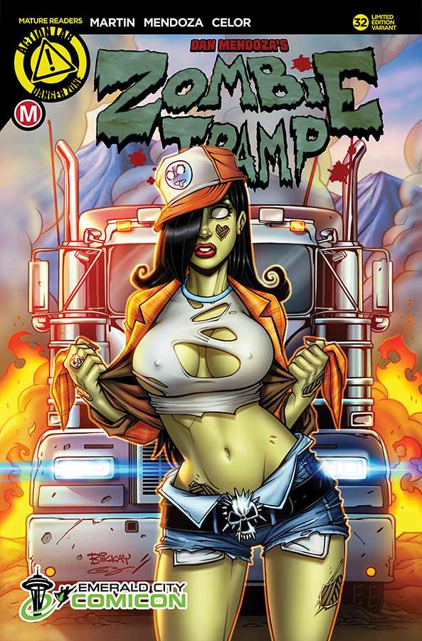 Zombie Tramp 32 ECCC Exclusive Cover by BillMcKay