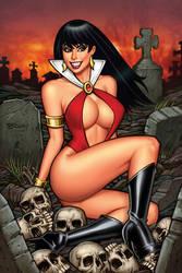 Vampirella #1 Sanctum Sanctorum Virgin Variant by BillMcKay