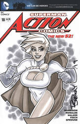 Power Girl Copic Marker Sketch