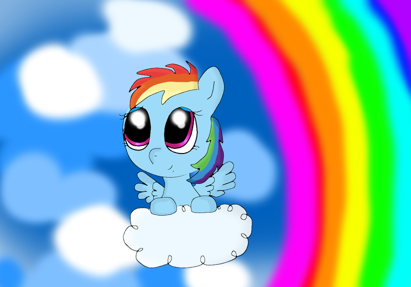 My Little Pony: Filly Rainbow Dash by ME by TwilightSparklefor on ...