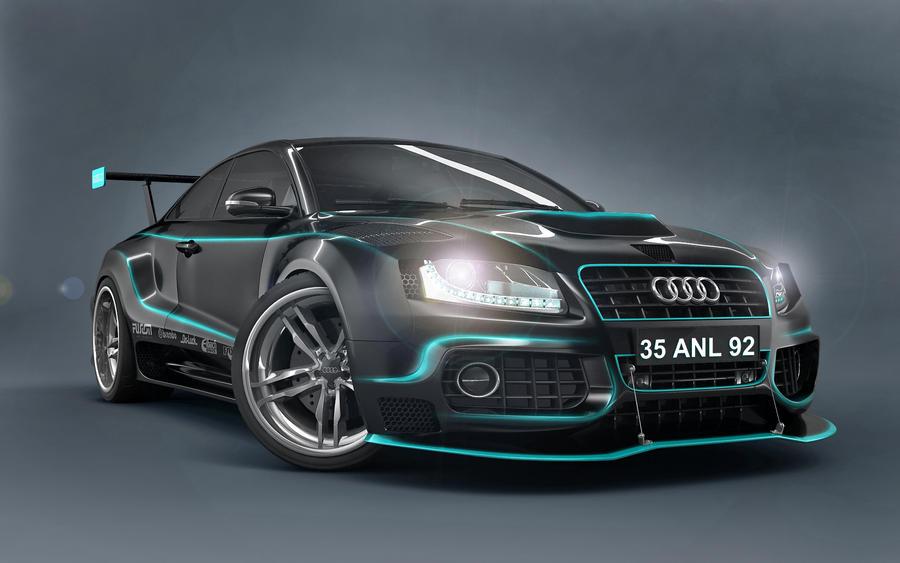3d wallpaper audi car design by anil alan wallpapers - 3d car wallpaper ...