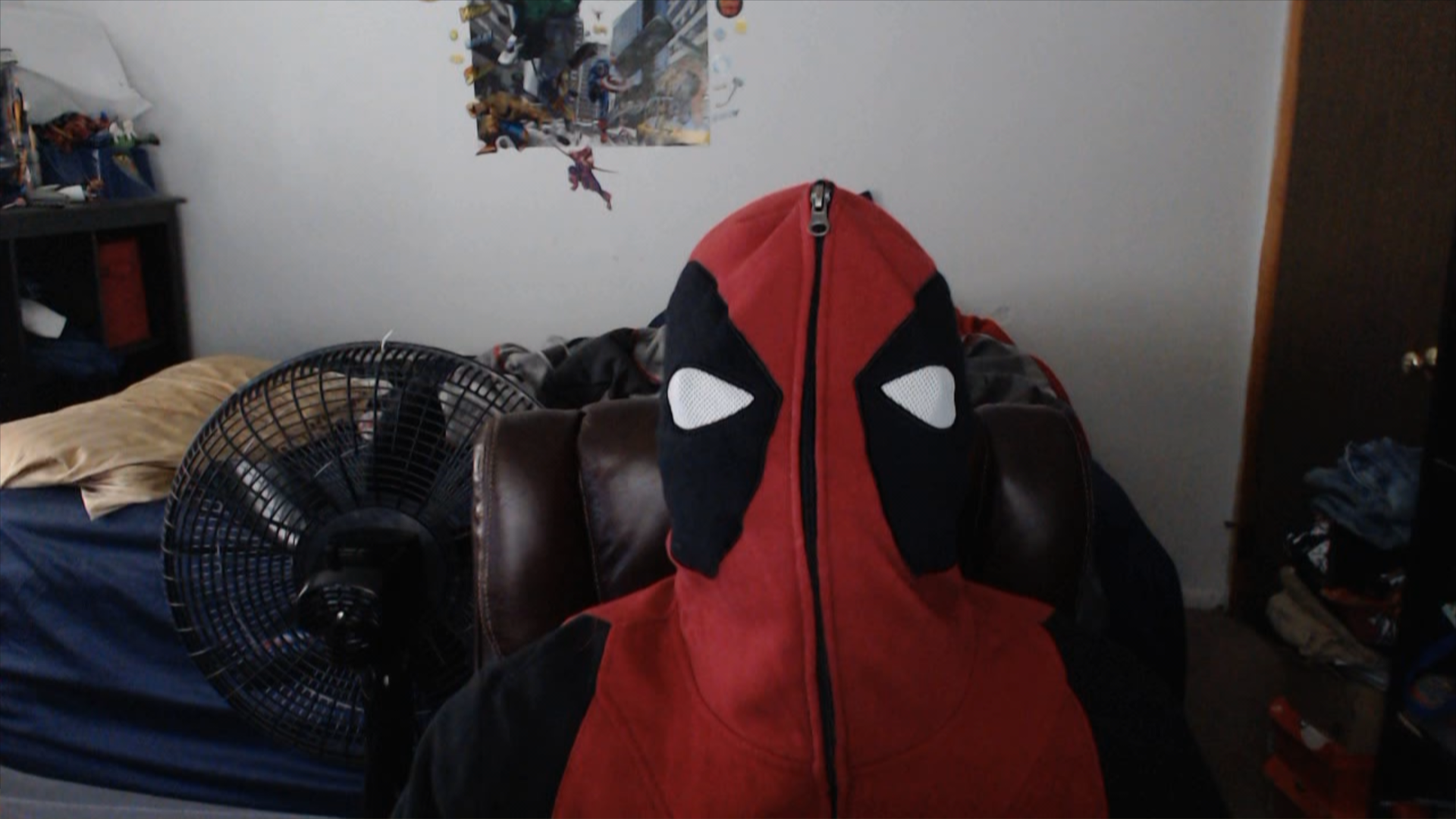 Me With My Deadpool Hoodie On by DarkrowTheHedgelynx