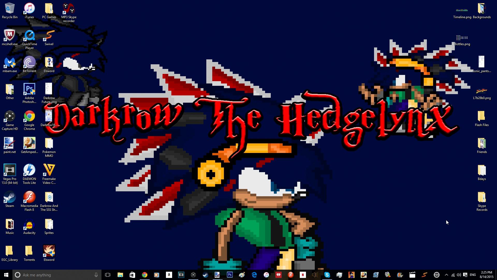 My New Desktop Wallpaper by DarkrowTheHedgelynx