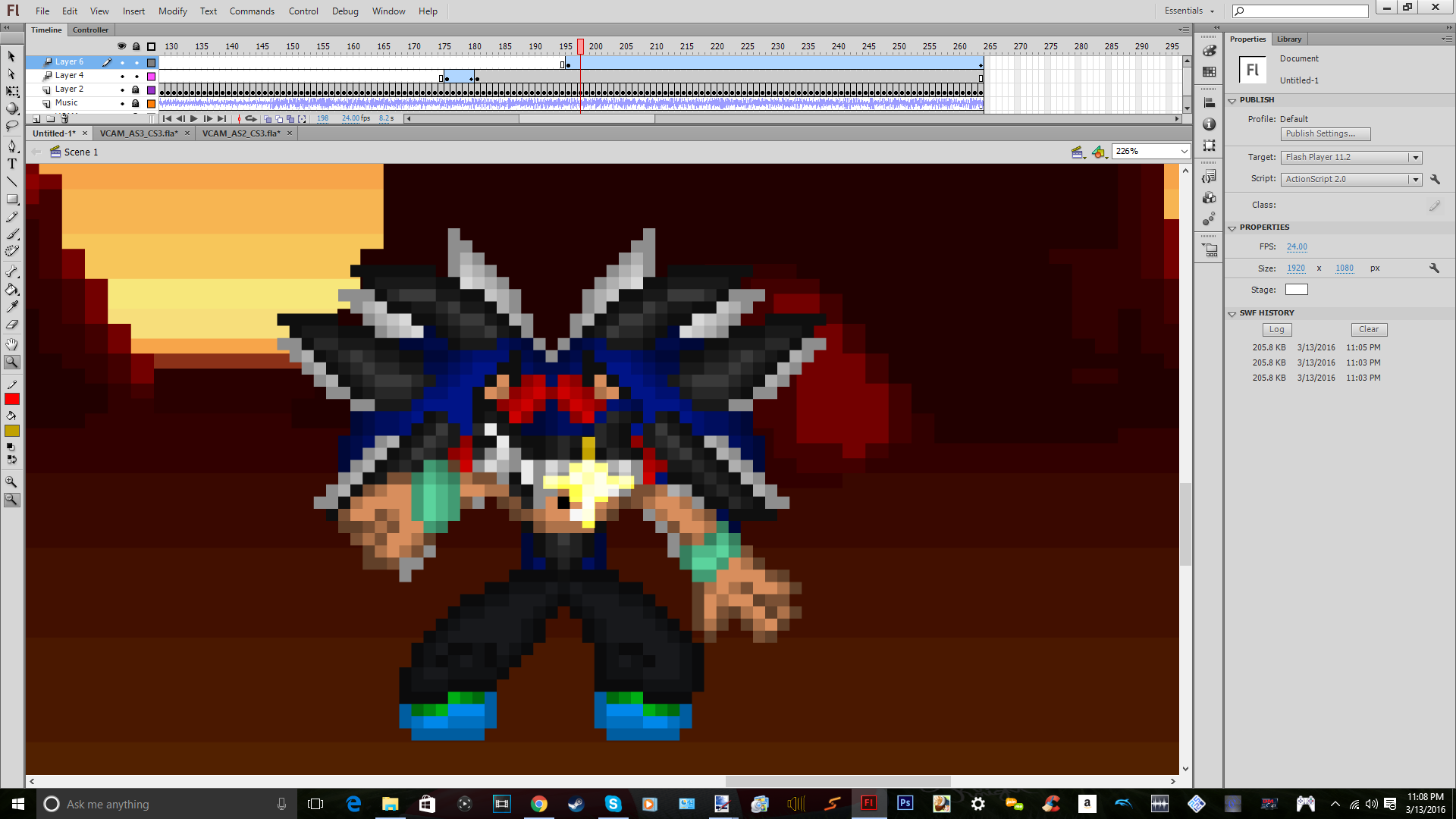 Making An Gaming Sprite Intro For My Channel by DarkrowTheHedgelynx