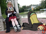 Maka and Spirit Albarn: Daddy daughter time by danielwartist