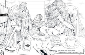 Hairpocalypse: Gotham Gals by danielwartist