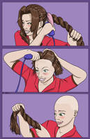 Aerith Shaves Her Head