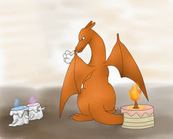 Look Who's the Candle- Happy B-Day by Shinkou-san