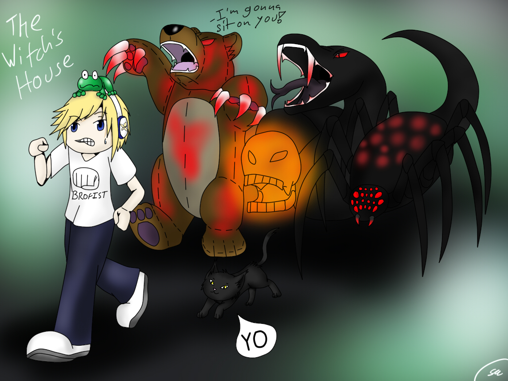 Pewdie Plays The Witch's House by Shinkou-san