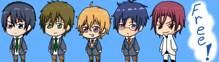 Free! Iwatobi Swim Club- Shimeji by Shinkou-san