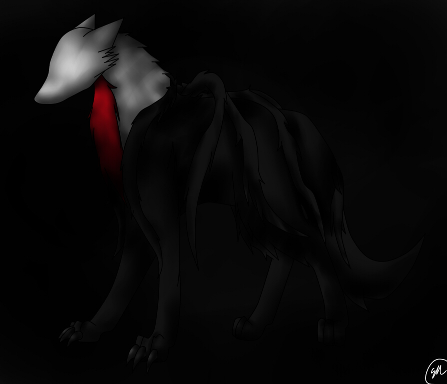 SlenderWolf [speedpaint] by Shinkou-san