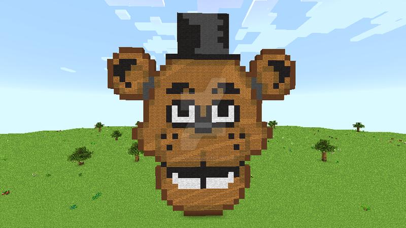 Minecraftart-Freddy fazbear [speedcraft] by Shinkou-san on
