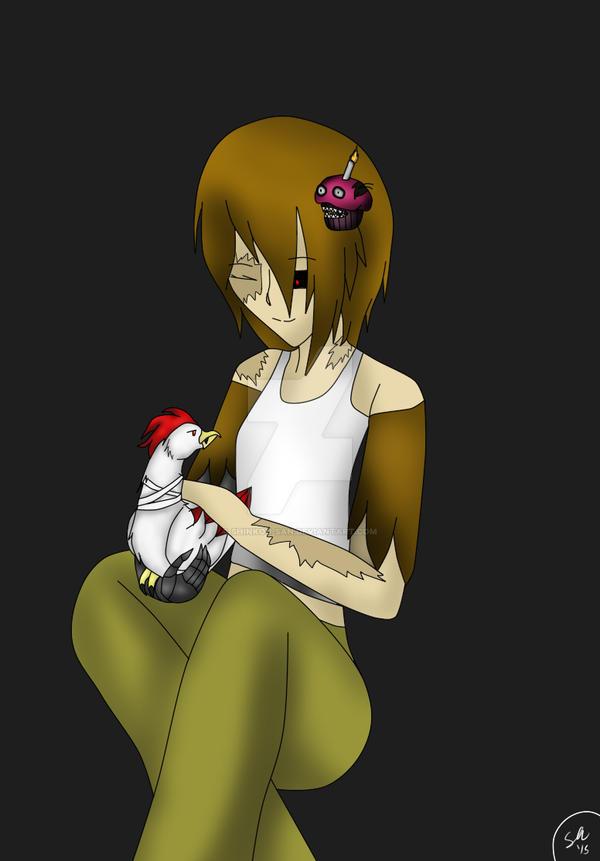 Fnaf human nightmare chica merla by shinkou san on deviantart