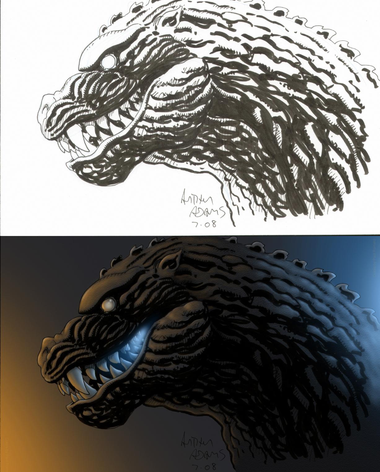 Godzilla Colored by Paul-Romero