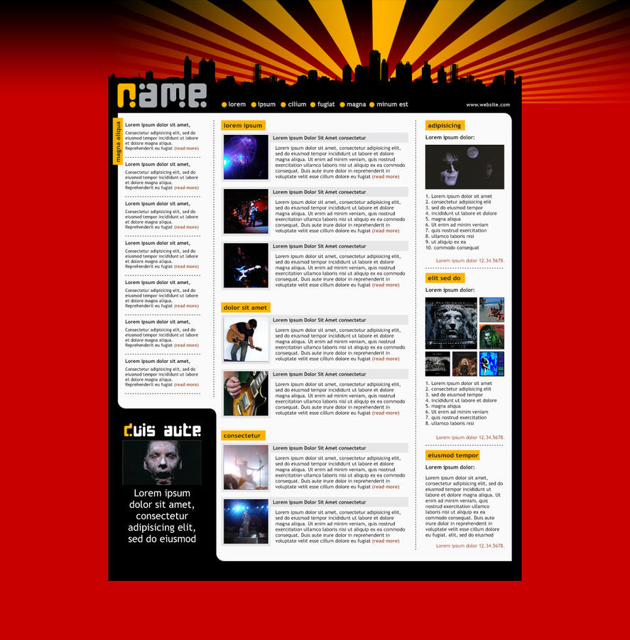 Webzine Layout 01 by BraceZenith