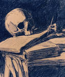 Detail Study Of St. Jerome Writing by Caravaggio