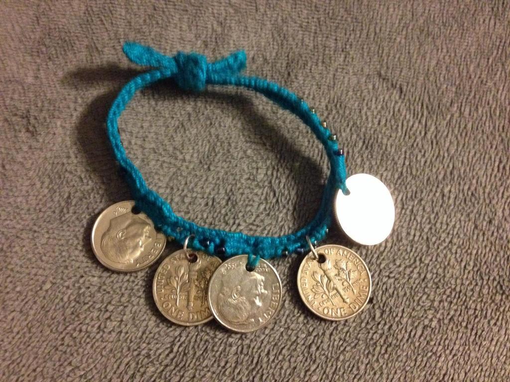 Aqua jingle bracelet by Arachnoid