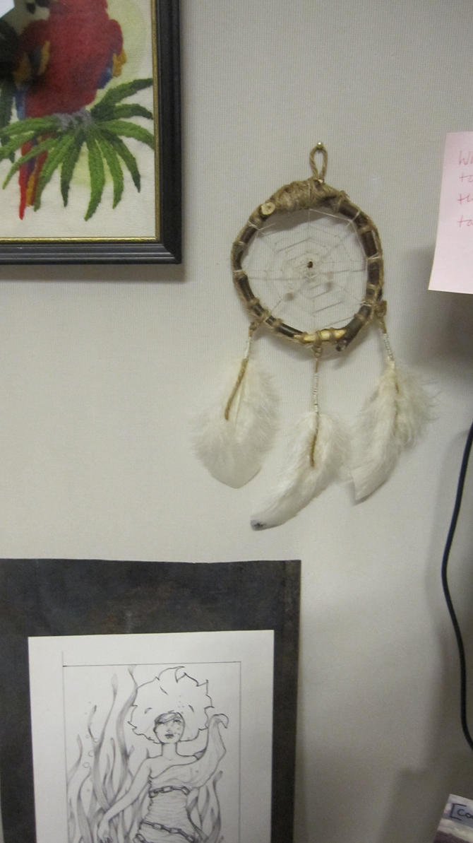 Eco Dream Web hanging at the owners desk space by Arachnoid