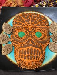 calaveritas de azucar inspired cake piece by Arachnoid