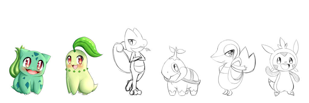 W I P Grass Starters By Chikow On Deviantart