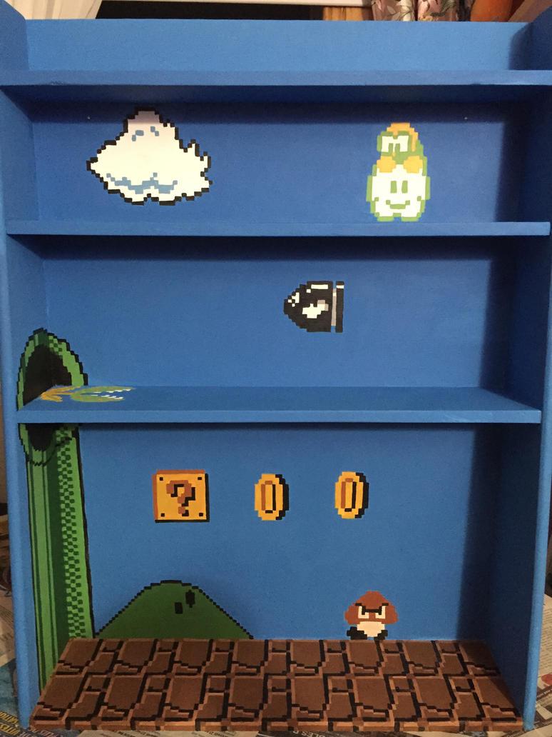 NES Super Mario shelf by CursedNight