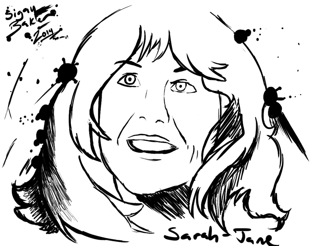 Brushpen Art- Elisabeth Sladen (Commission Ver.) by ThetaSigmaIV