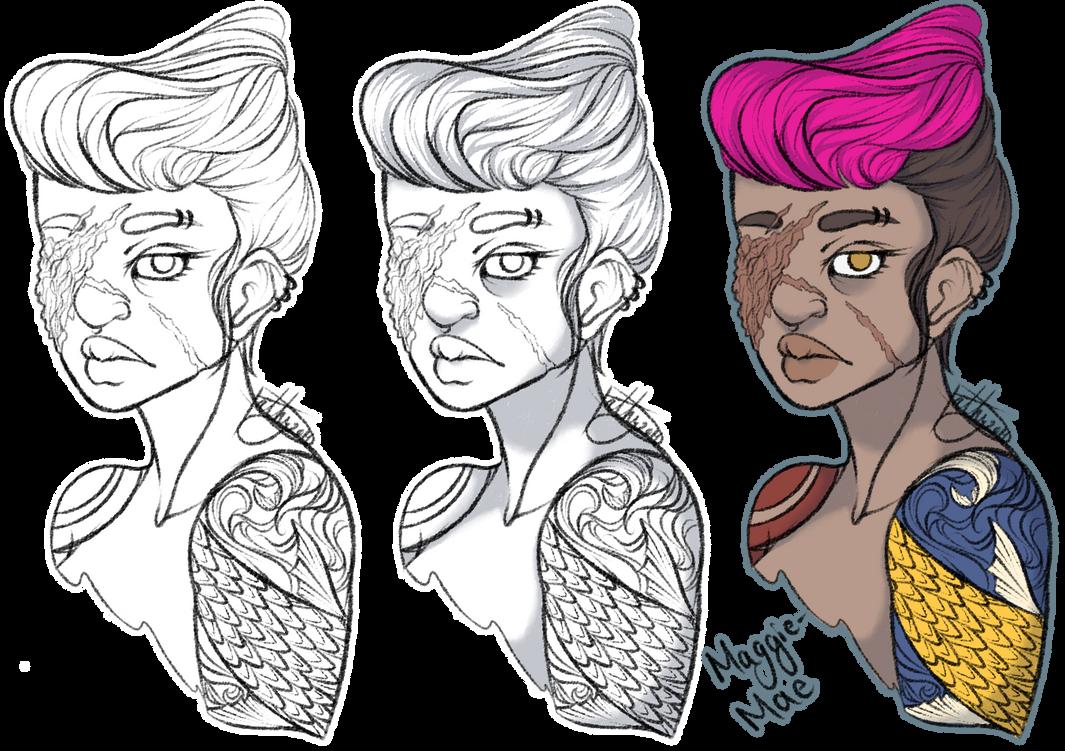 OC Maggie-Mae-Sketch by Sym-Pathy