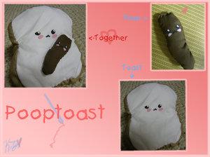 Pooptoast Plush by hand-sewers-unite