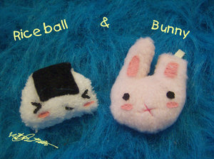 Rice Ball and Bunny by hand-sewers-unite