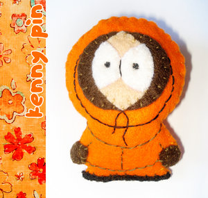 Kenny plush by hand-sewers-unite