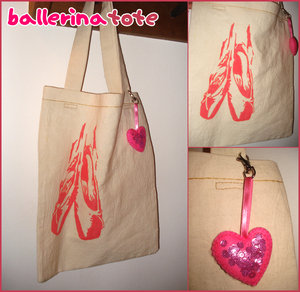 ballerina tote by hand-sewers-unite