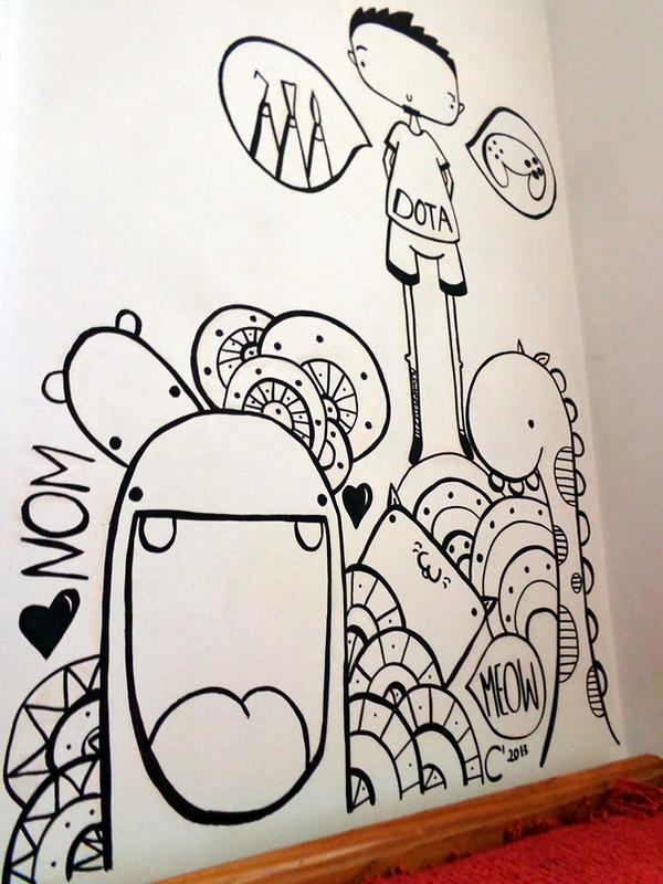 wall doodle by sneakypictures on deviantart