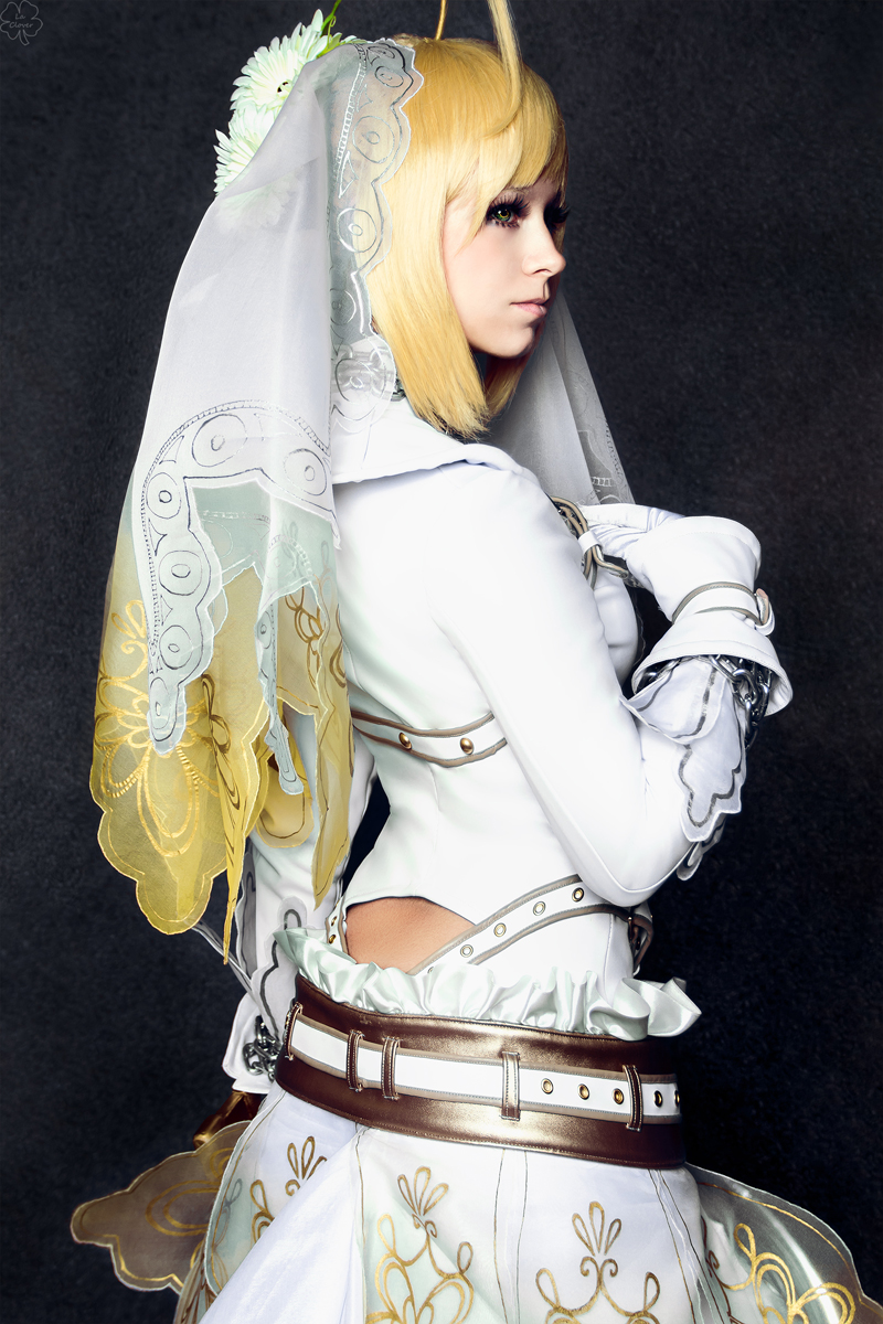 Fate/ExtraCCC_Saber bride by SoranoSuzu