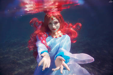 Ponyo on the cliff by the sea - Sea Goddess
