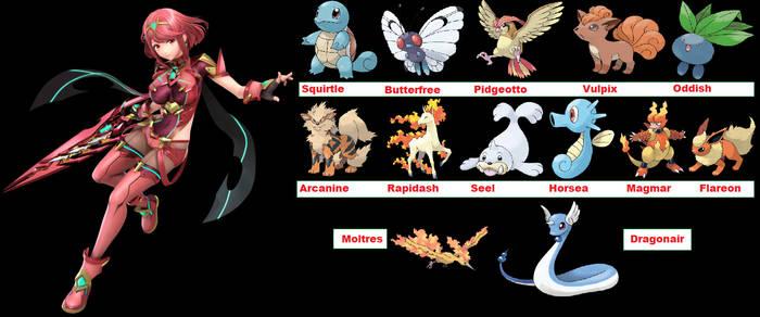 What if Pyra had pokemon GEN 1