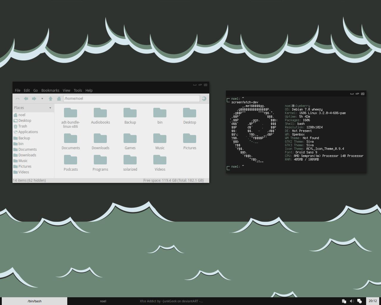 Openbox Desktop - April 2013 by kexolino
