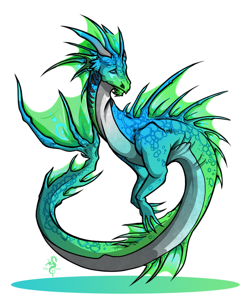 Hatched : Water Dragon by Arofexdracona on DeviantArt